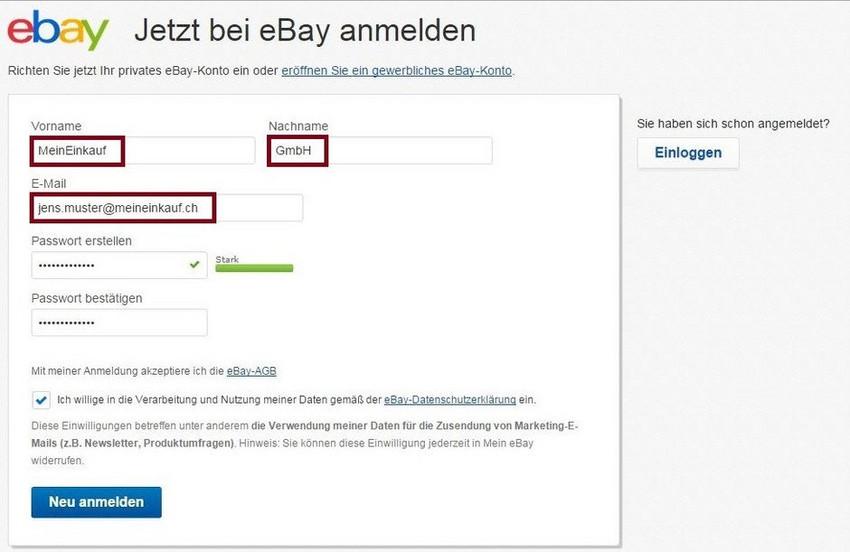 Ebay De Meineinkauf Ch