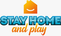 Logo STAY HOME and play