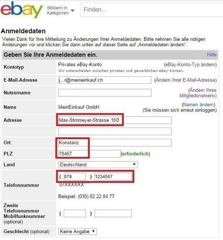 Mein Ebay Konto Einloggen