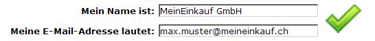 Bitte verwenden Sie nur Ihre @MeinEinkauf.ch Email-Adresse
