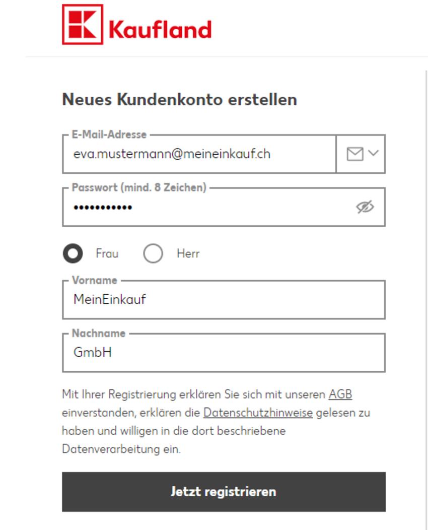 kaufland.de  Registrierung